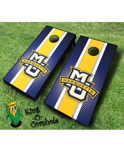 marquette golden eagles NCAA cornhole boards Stripe