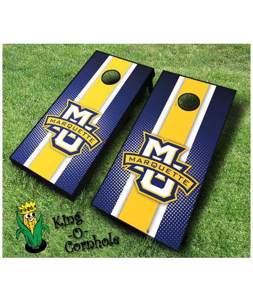 marquette golden eagles NCAA cornhole boards Stripe