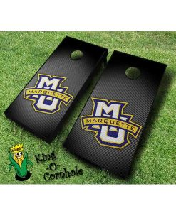 marquette golden eagles NCAA cornhole boards Slanted