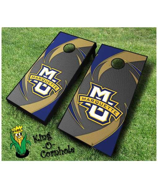 marquette golden eagles NCAA cornhole boards Swoosh