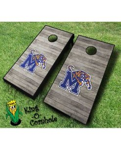 memphis tigers NCAA cornhole boards distressed