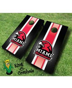 miami redhawks NCAA cornhole boards Stripe