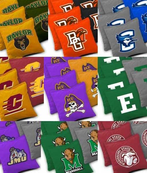 NCAA College Cornhole Bags Detail