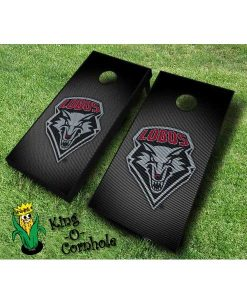 new mexico lobos NCAA cornhole boards Slanted