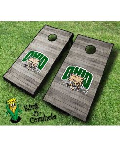 ohio university bobcats NCAA cornhole boards Distressed