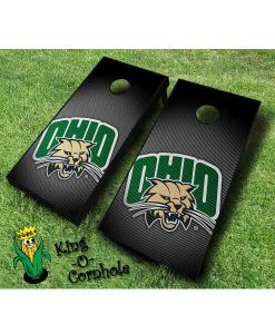 ohio university bobcats NCAA cornhole boards Slanted