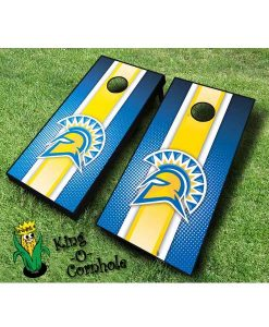 san jose spartans NCAA cornhole boards Stripe
