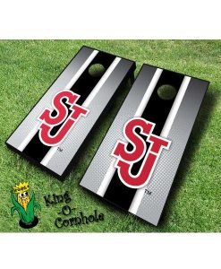 st johns red storm NCAA cornhole boards Stripe