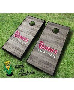 st johns red storm NCAA cornhole boards Distressed