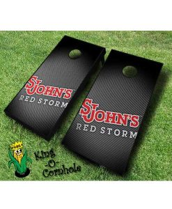 st johns red storm NCAA cornhole boards Slanted