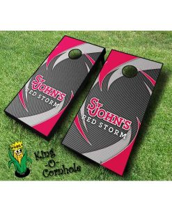 st johns red storm NCAA cornhole boards Swoosh