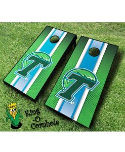 tulane green wave NCAA cornhole boards Stripe