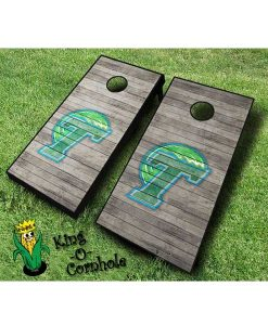 tulane green wave NCAA cornhole boards Distressed