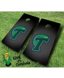 tulane green wave NCAA cornhole boards Slanted