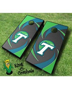 tulane green wave NCAA cornhole boards Swoosh