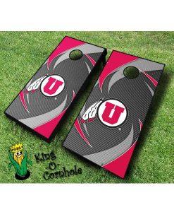 utah utes NCAA cornhole boards Swoosh