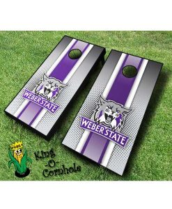weber state wildcats NCAA cornhole boards Stripe