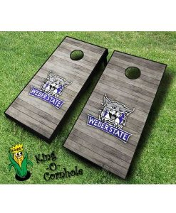 weber state wildcats NCAA cornhole boards Distressed