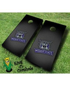 weber state wildcats NCAA cornhole boards Slanted