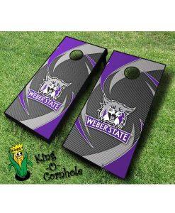 weber state wildcats NCAA cornhole boards Swoosh