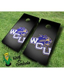 western carolina catamounts NCAA cornhole boards Slanted
