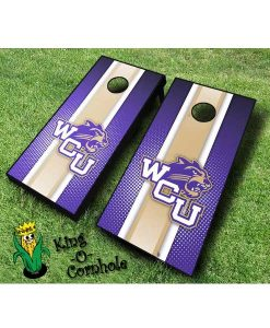 Western Carolina-Striped-Cornhole-Boards