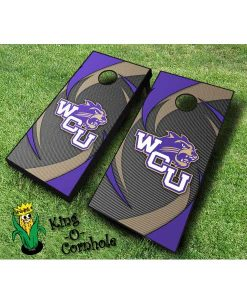 western carolina catamounts NCAA cornhole boards Swoosh