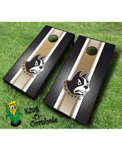 wofford terriers NCAA cornhole boards-Stripe