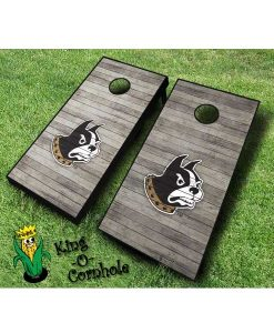 wofford terriers NCAA cornhole boards Distressed