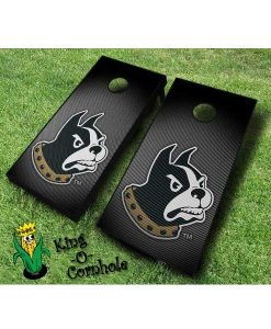 wofford terriers NCAA cornhole boards Slanted