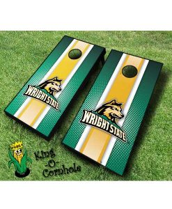 wright state raiders NCAA cornhole boards-Stripe