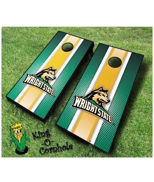 wright state raiders NCAA cornhole boards-Stripe
