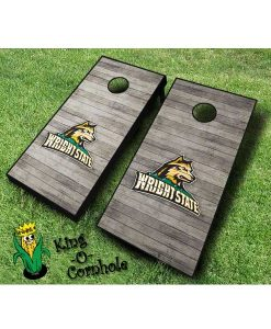 wright state raiders NCAA cornhole boards Distressed