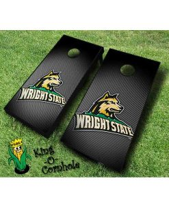 wright state raiders NCAA cornhole boards Slanted