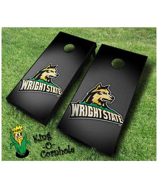 wright state raiders NCAA cornhole boards Slanted
