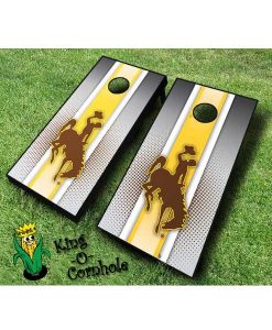 wyoming cowboys NCAA cornhole boards-Stripe
