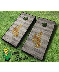 wyoming cowboys NCAA cornhole boards Distressed