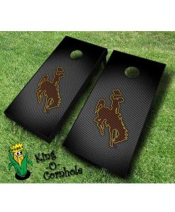 wyoming cowboys NCAA cornhole boards Slanted