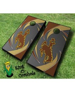 wyoming cowboys NCAA cornhole boards Swoosh