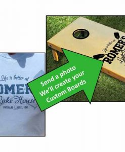 Picture to custom cornhole set