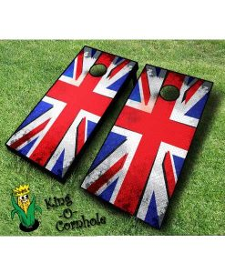 Punk British Flag Cornhole Boards