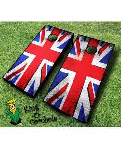 Punk British Flag Cornhole Boards