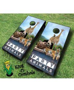 Party Animals Cornhole Game Set