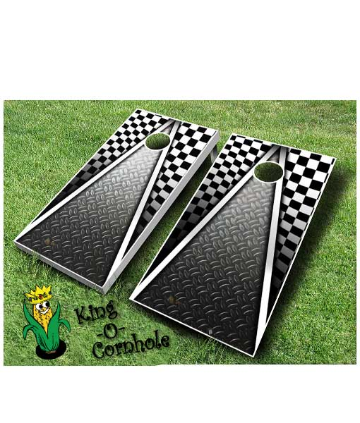 Racing Cornhole Board Game Set