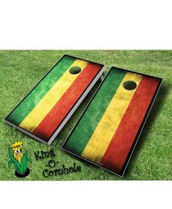 Rasta FLag Cornhole Boards